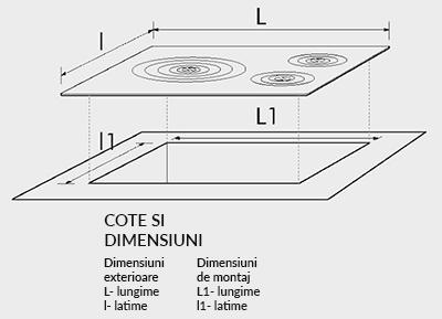 Plita fonta fara rama cu cos 395x170 mm