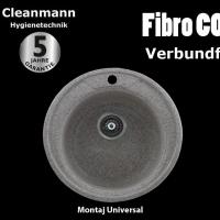 Noua gama de chiuvete compozit Cleanmann FibroCOMP, 49 cm