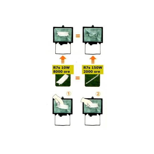 Bec economic pentru proiector 78 mm 10W (2700 K)