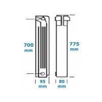 Calorifer aluminiu 700/80 Helyos