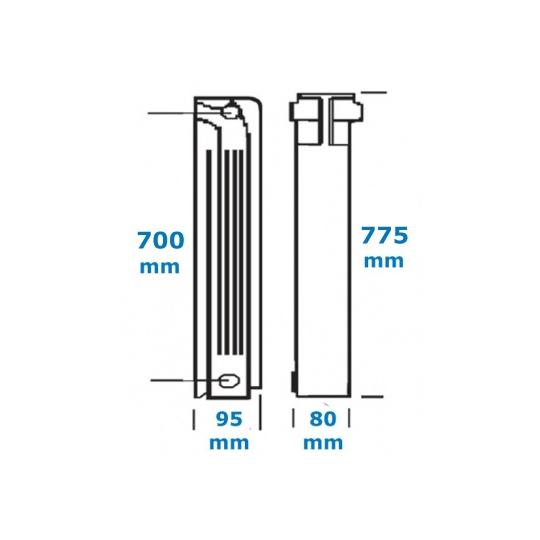 Element calorifer aluminiu Helyos 700
