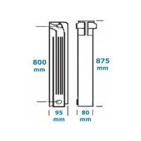 Element calorifer aluminiu Helyos 800