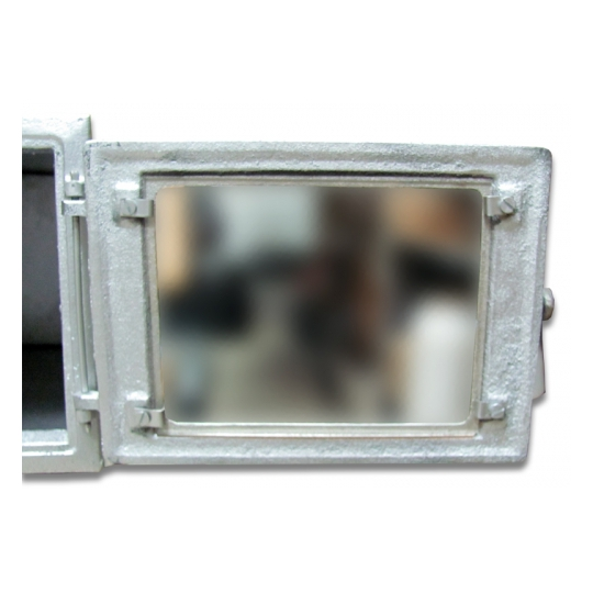 Cuptor soba mare cu geam 350x260x410 mm Argintiu
