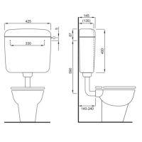 Rezervor WC semi inaltime Liv Vision Mono 195200