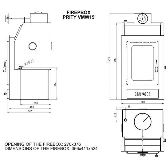 Termo focar Prity VM W15 20kW