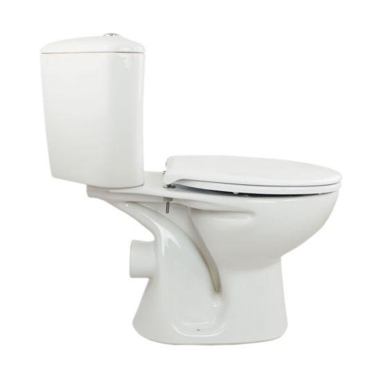 Set vas WC 341 compact iesire laterala, rezervor pe colt President Cersanit + capac duroplast President