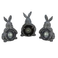 Set figurine de piatra 3 buc 50W 12V Iepure