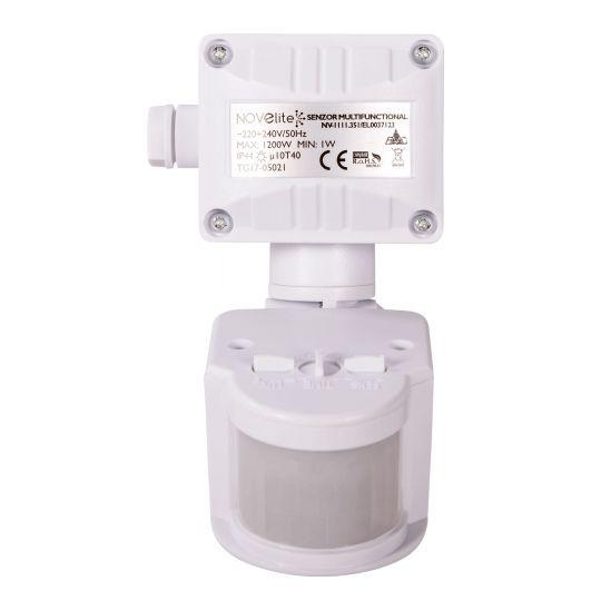 Senzor de prezenta JQ-35, 180 grade, IP44, NV-1111.35, Alb, Novelite