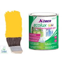 Vopsea pe baza de apa Ecolux Kolor Galben 0.75 l Kober