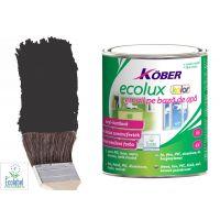 Vopsea pe baza de apa Ecolux Kolor Negru 0.75 l Kober