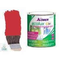 Vopsea pe baza de apa Ecolux Kolor Rosu 0.75 l Kober