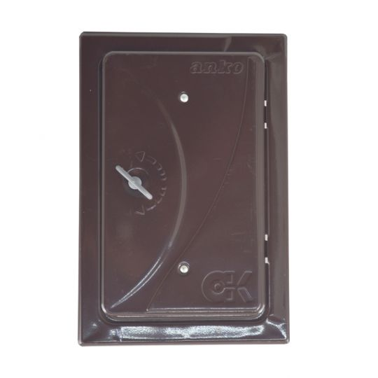 Usa pentru cos fum 280x160 Alb/Maro