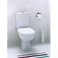 Set vas wc 316 compact alimentare laterala Facile Cersanit + capac duroplast