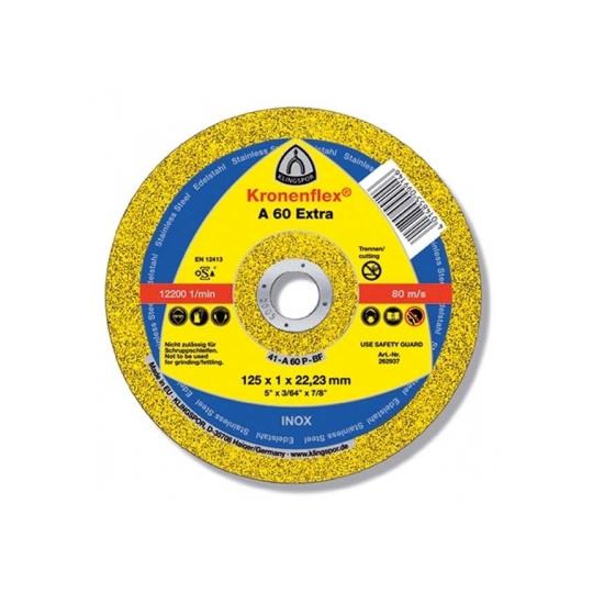 Disc abraziv A60 Extra 125x1x22,23 Inox Klingspor