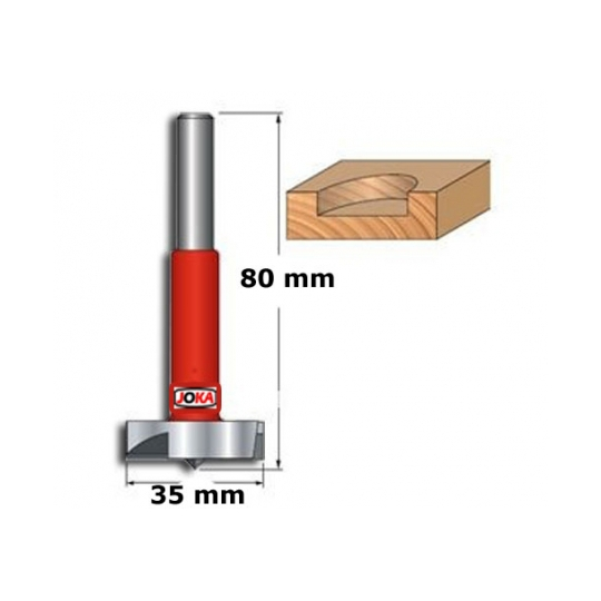 Freza cilindrica vidia, diametru 35 mm Joka