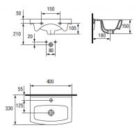 Lavoar pentru mobilier Cersanit Cersania 40 cm