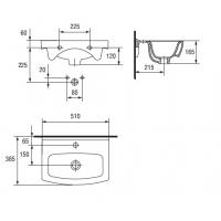 Lavoar pentru mobilier Cersanit Cersania 50 cm