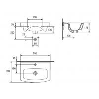 Lavoar pentru mobilier Cersanit Cersania 55 cm