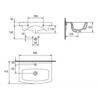 Lavoar pentru mobilier Cersanit Cersania 60 cm