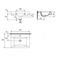 Lavoar pentru mobilier Cersanit Carla 60 cm