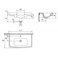 Lavoar pentru mobilier Cersanit Roma 80 cm