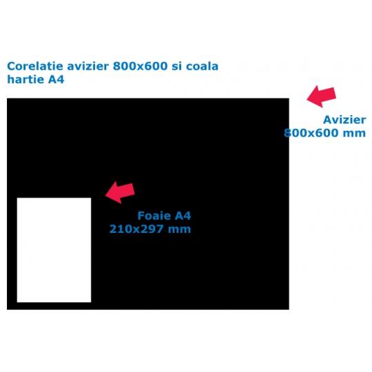 Avizier scara bloc 800x600x10 cm