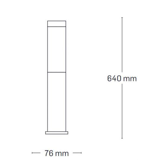 Lampa de gradina Erste Ares 1xE27, 60W, 64 cm