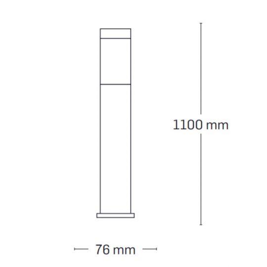 Lampa de gradina Erste Ares 1xE27, 60W, 110 cm
