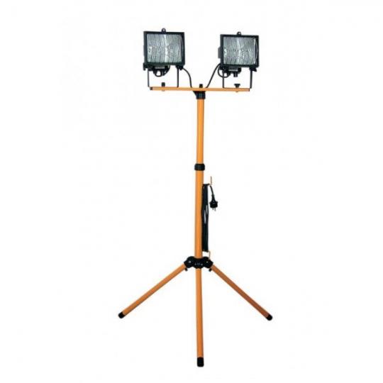 Proiector 2x150W cu suport telescopic Total Green