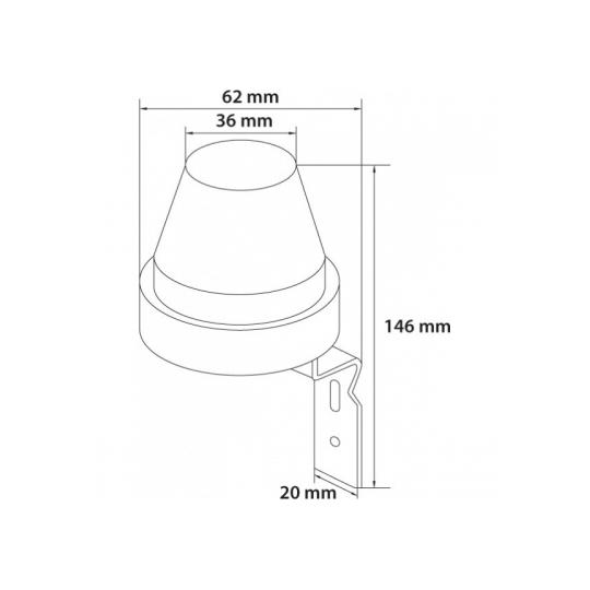 Fotosenzor TG-1102.02, 10A, T&G