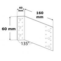Coltar perforat 135 grade Tip 2 - 60x180x100x2.5 mm