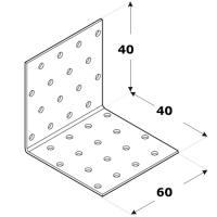 Coltar perforat 90 grade Tip 1- 40x40x60x2.0 mm