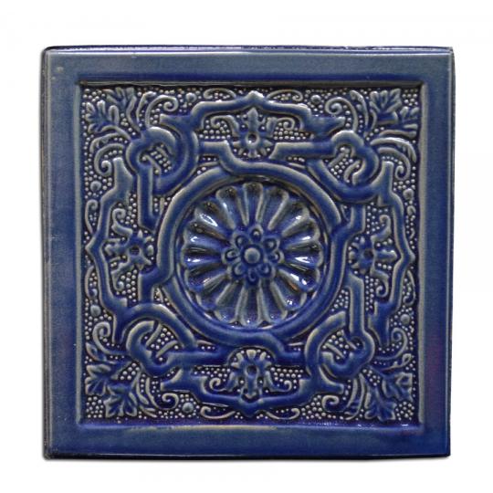 Placa soba teracota Labirint Albastru