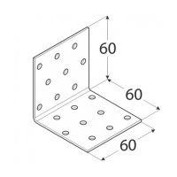Coltar perforat 90 grade Tip 1- 60x60x60x2.0 mm