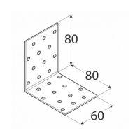 Coltar perforat 90 grade Tip 1- 80x80x60x2.0 mm