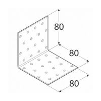 Coltar perforat 90 grade Tip 1- 80x80x80x2.0 mm