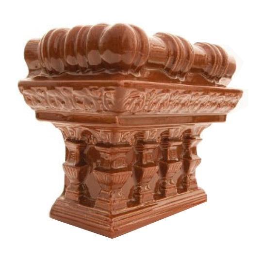 Colt cornisa cupola soba teracota Maro