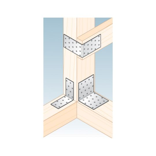 Coltar perforat 90 grade Tip 1- 100x100x100x2.0 mm