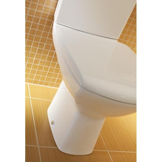 Vas WC compact evacuare laterala Carina,capac cadere lenta, alimentare rezervor lateral