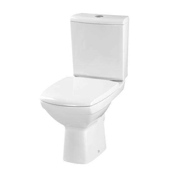 Vas WC compact evacuare laterala Carina, capac duroplast antibacterian, alimentare rezervor inferior