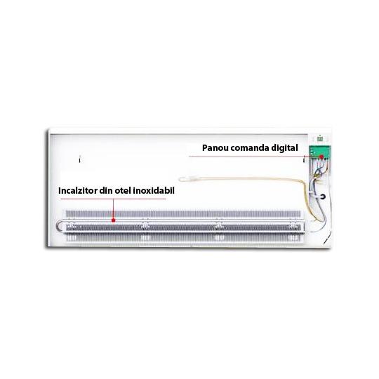 Panou radiant de perete Eldom CW3000, 3000W, digital