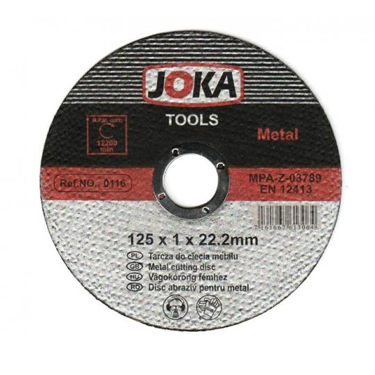 Disc debitare Joka metal EN12413 - 125x1 mm