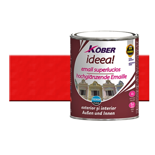 Vopsea Ideea Rosu 2.5 l Kober