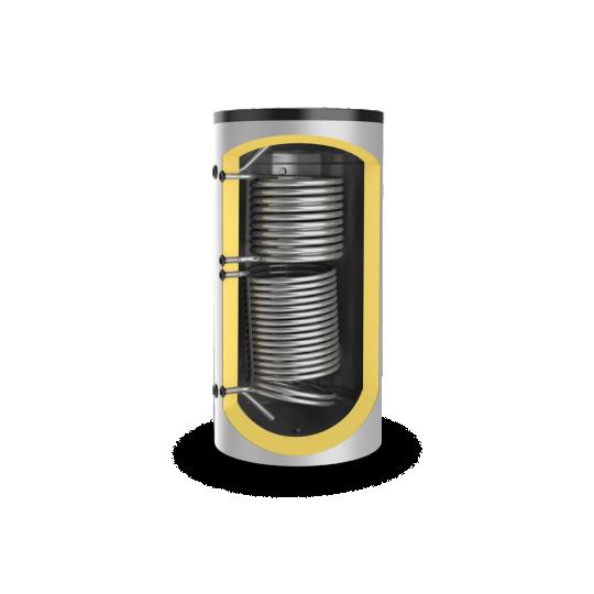 Puffer (stocator caldura), neemailat,cu 2 serpentine 500 litri Eldom