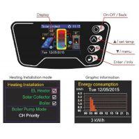 Boiler solar mixt cu dubla serpentina Eldom , capacitate 120 l, 3kW, control digital New Design