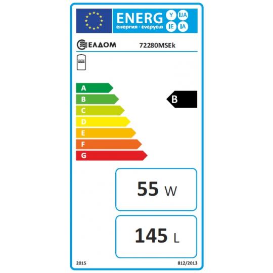 Boiler solar mixt cu serpentina Eldom , capacitate 150 l, 3kW, control digital