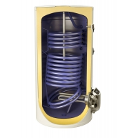 Boiler solar mixt cu dubla serpentina Eldom , capacitate 200 l, 3kW, control digital, Slim