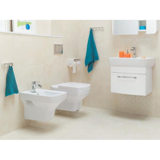 Vas WC suspendat Pure antibacterian Pure Silverit Cersanit (capac separat)