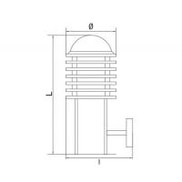 Lampa de gradina T&G ANDRES A 1xE27, 60W, 32.5 cm