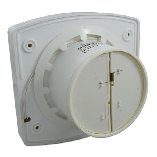 Ventilator de baie 100 cu clapeta antiretur OK 04 100 LRT, cu fotosenzor, cu timer